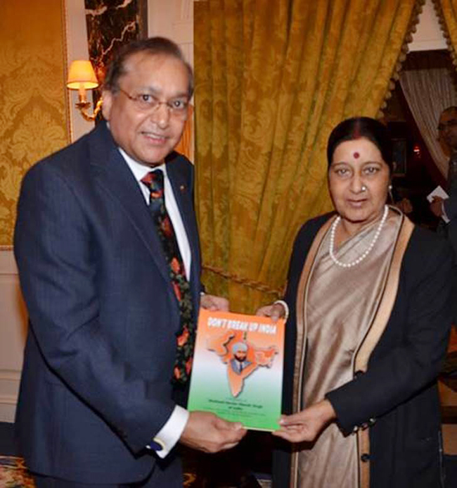 Dr Rami Ranger CBE with Mrs Sushma