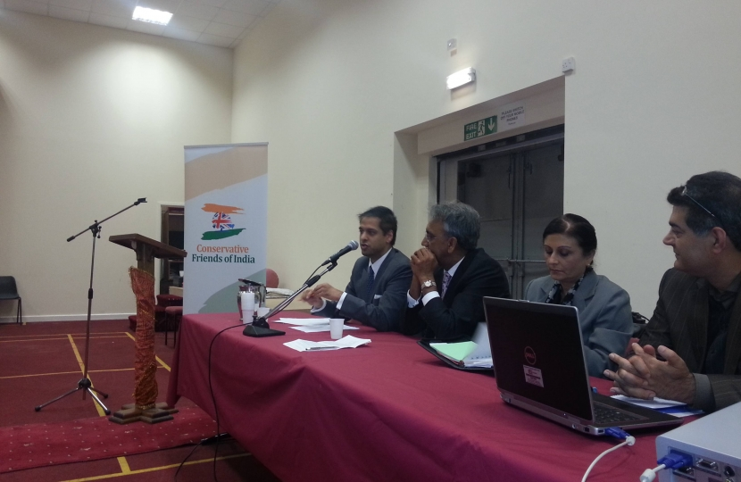 Asheem Singh and Lord Popat of Harrow at the CF India Community Forum