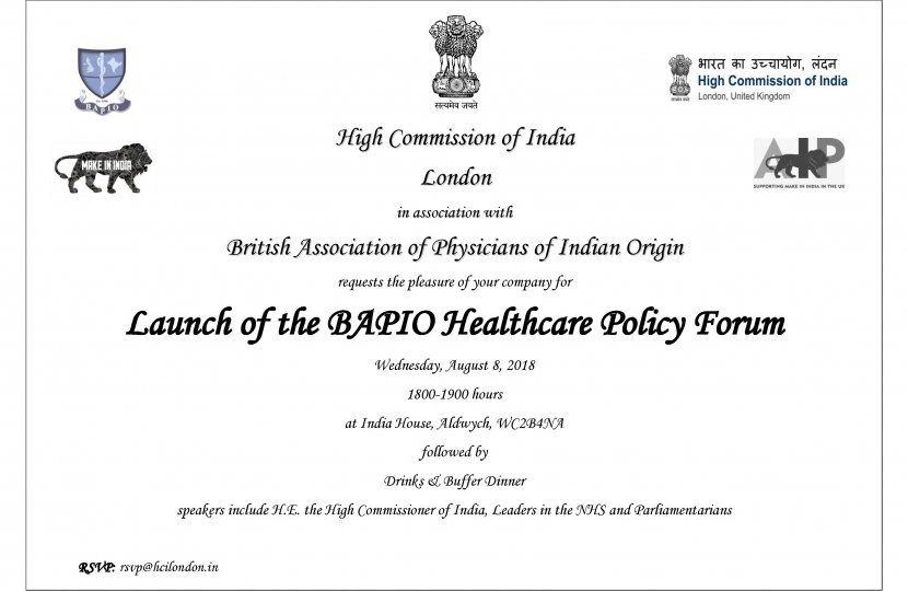 Launch of the BAPIO Healthcare Policy Forum