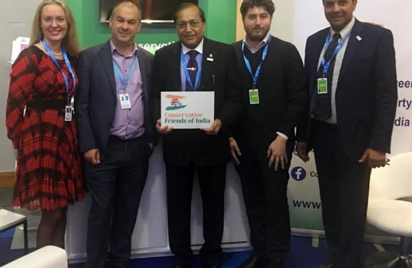 Mr Paul Scully MP, Vice- Chair of CF India with Dr Rami Ranger CBE and CF India Team