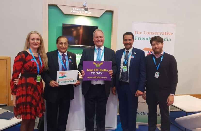 Mr Bob Blackman MP, Vice- Chair of CF India with Dr Rami Ranger CBE and CF India Team