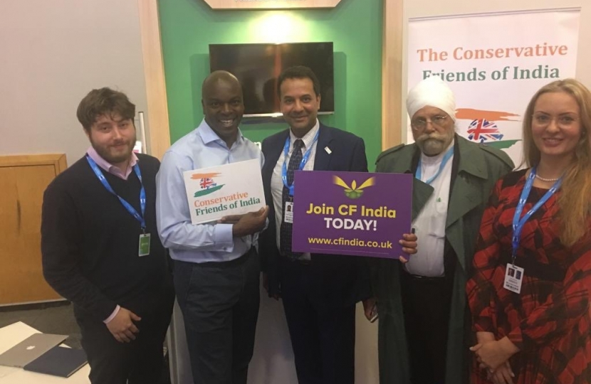 Mr Shaun Bailey AM, London Mayoral Candidate with CF India team