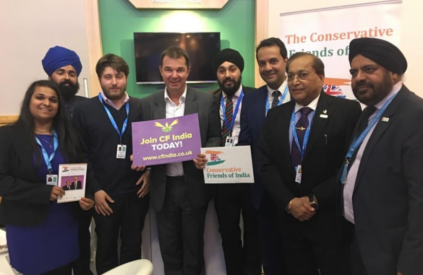 Mr Guy Opperman MP with Patron, Co-Chairman and CF India team