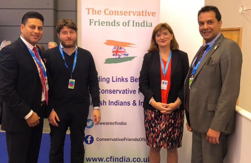 The Rt. Hon. Nicky Morgan MP with CF India team
