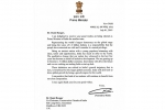 Letter received from the Prime Minister of India Shri Narendra Modi
